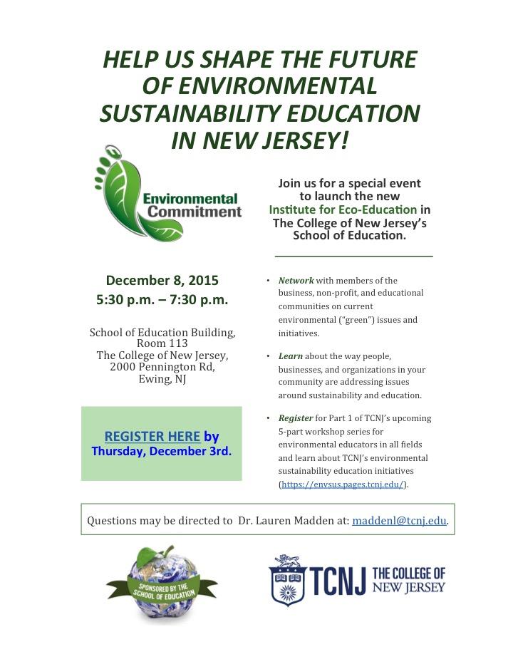 Environmental Sustainability Education