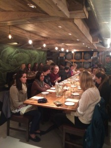 ELE/ENV 100 students Dining at Agricola Community Eatery- Spring 2015