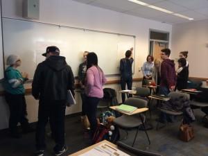ELE/ENV 100 students hard at work- Spring 2015
